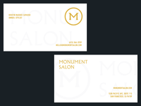 Monument Salon business cards