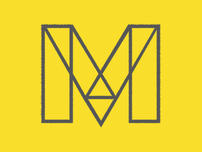 M m rectangles geometric logo