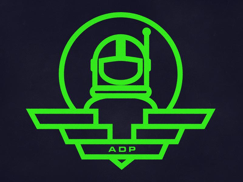 ADP spaceman wings insignia logo