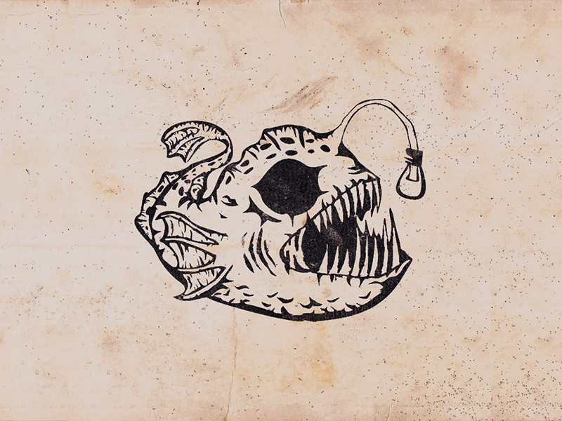 Abyssal Fish monster abyssal fish fish deep sea photoshop logo illustration