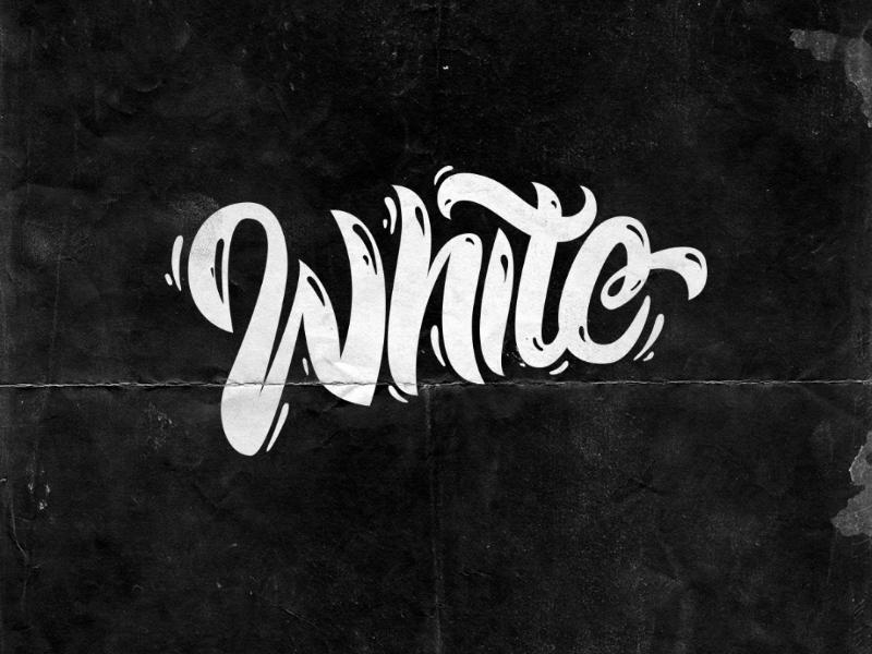 White Lettering typography type vector letters lettering white handmade handlettering font digital custom calligraphy brush