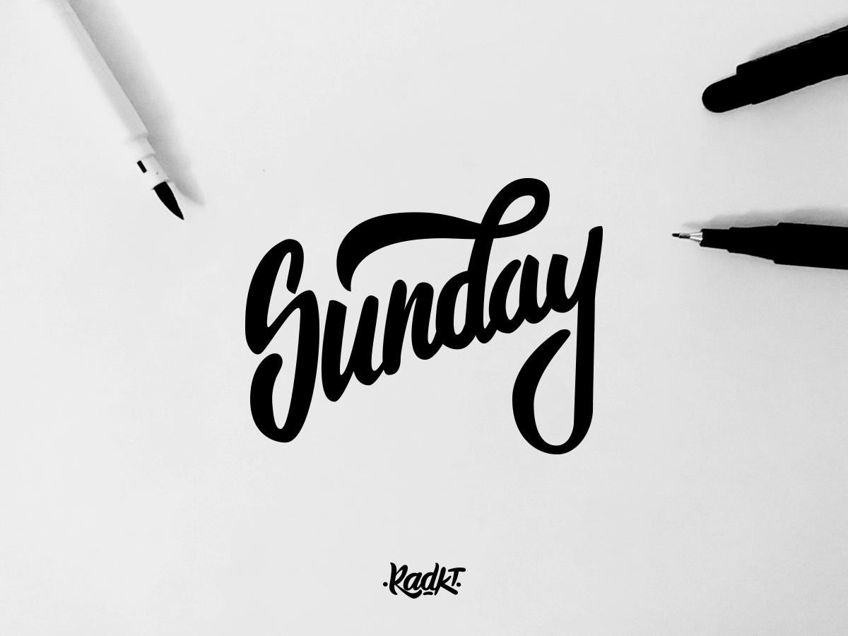 Sunday typography logo logotype type illustration handmade lettering handlettering custom calligraphy