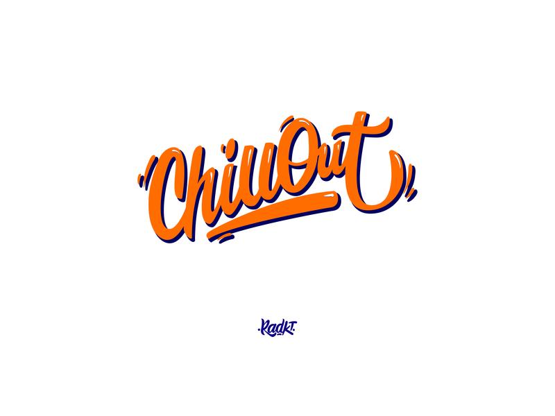 Chillout vector typography letters logo type logotype brush digital font handmade lettering handlettering custom calligraphy