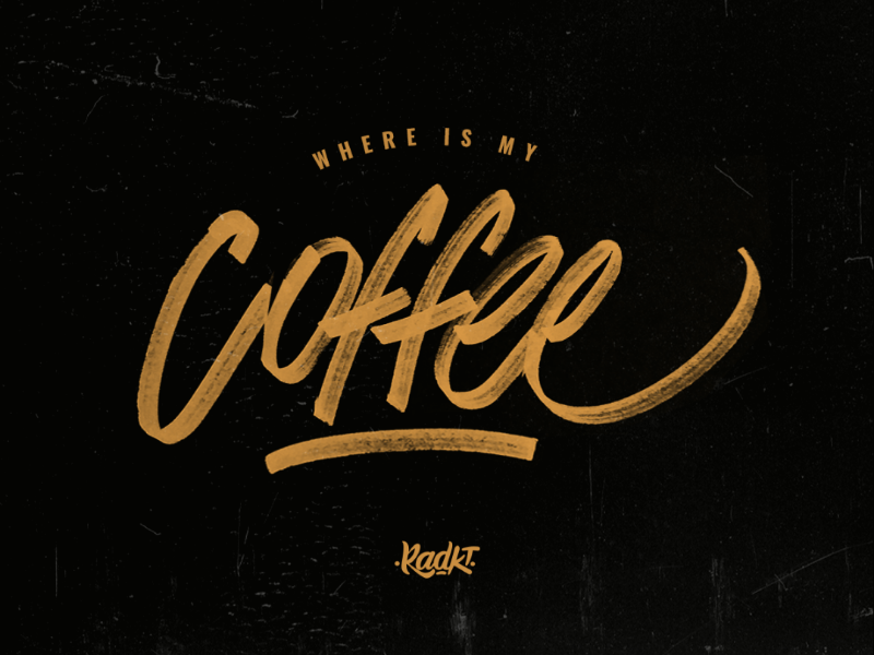 Where is my coffee? marker handlettering letters lettering calligraphy handmade coffee tshirt