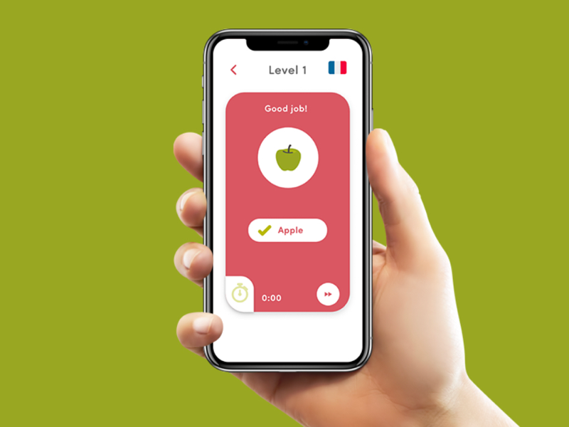 Language learning app interface uidesign usability voice command mobile app ui