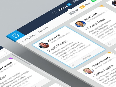 Mail Client UI Concept email mail flat cards ui ux design web minimal clean app concept