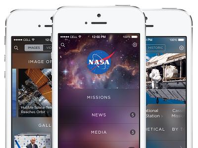 NASA App Redesign app concept flat ui iphone clean ios ux nasa redesign space