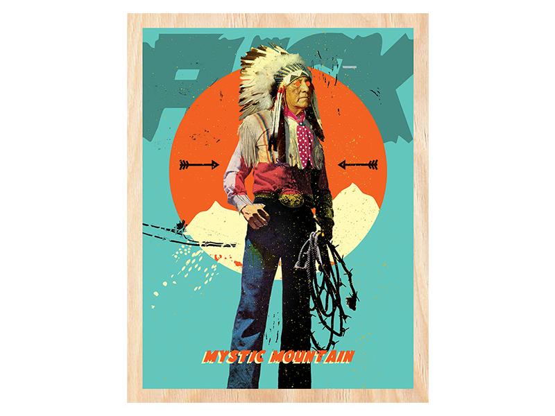 Mystic Mountain artist colorado cortez native west western art print mixed media