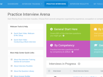 Biginterview Interview Area video tables help bootstrap arena interview app faq