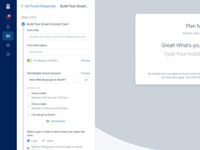 Build Your Smart Connect Card react bootstrap wysywig form builder wizard steps
