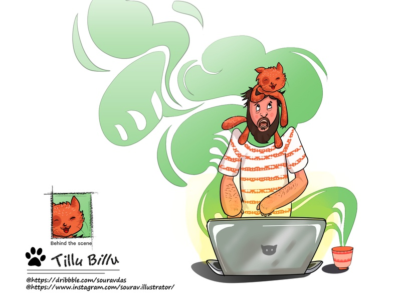 Tillubillu my pet art characterdesign pet adobe photoshop style branding ui design illustration concept drawing