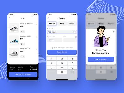 Checkout apiko payment creditcard checkout vector minimal ux ui flat design