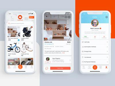 Markid profile ecommerce mobile minimal apiko design ui ux ux ui