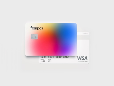 Franpos — Bank Card mbrt stationery card bank card typography logo identity brand identity design brand design brand branding