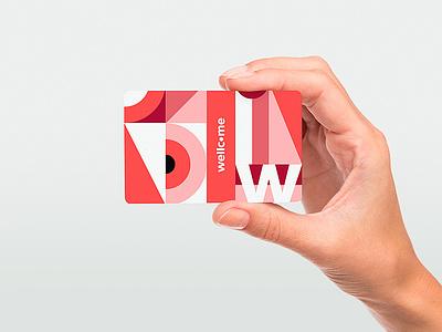 Wellcome — NFC Card shot logotype logo mosaic grid pattern illustration card key nfc card nfc visual identity concept branding concept brand design brand identity branding coliving wellcome mbrt