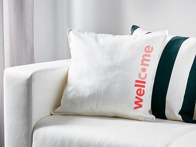 Wellcome — Amenities logo interior design pillow amenities graphicdesign typography wellcome brand design brand identity brand mbrt coliving design identity branding