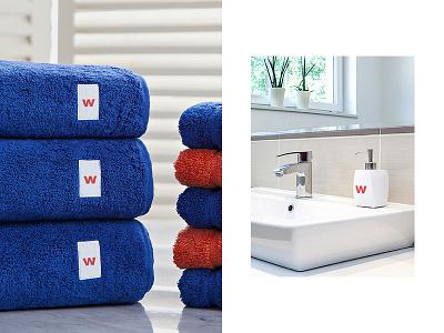 Wellcome — Bath Amenities minimalistic simple design bathroom minimalist logo wellcome brand design coliving brand identity brand mbrt identity design branding