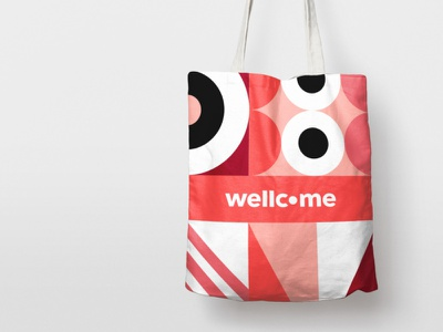 Wellcome — Bags bags vector shapes illustration patterns pattern groceries grocery merchandise design bag merchandising wellcome brand design coliving brand identity brand mbrt identity design branding