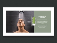 Shower pressure interactive slider