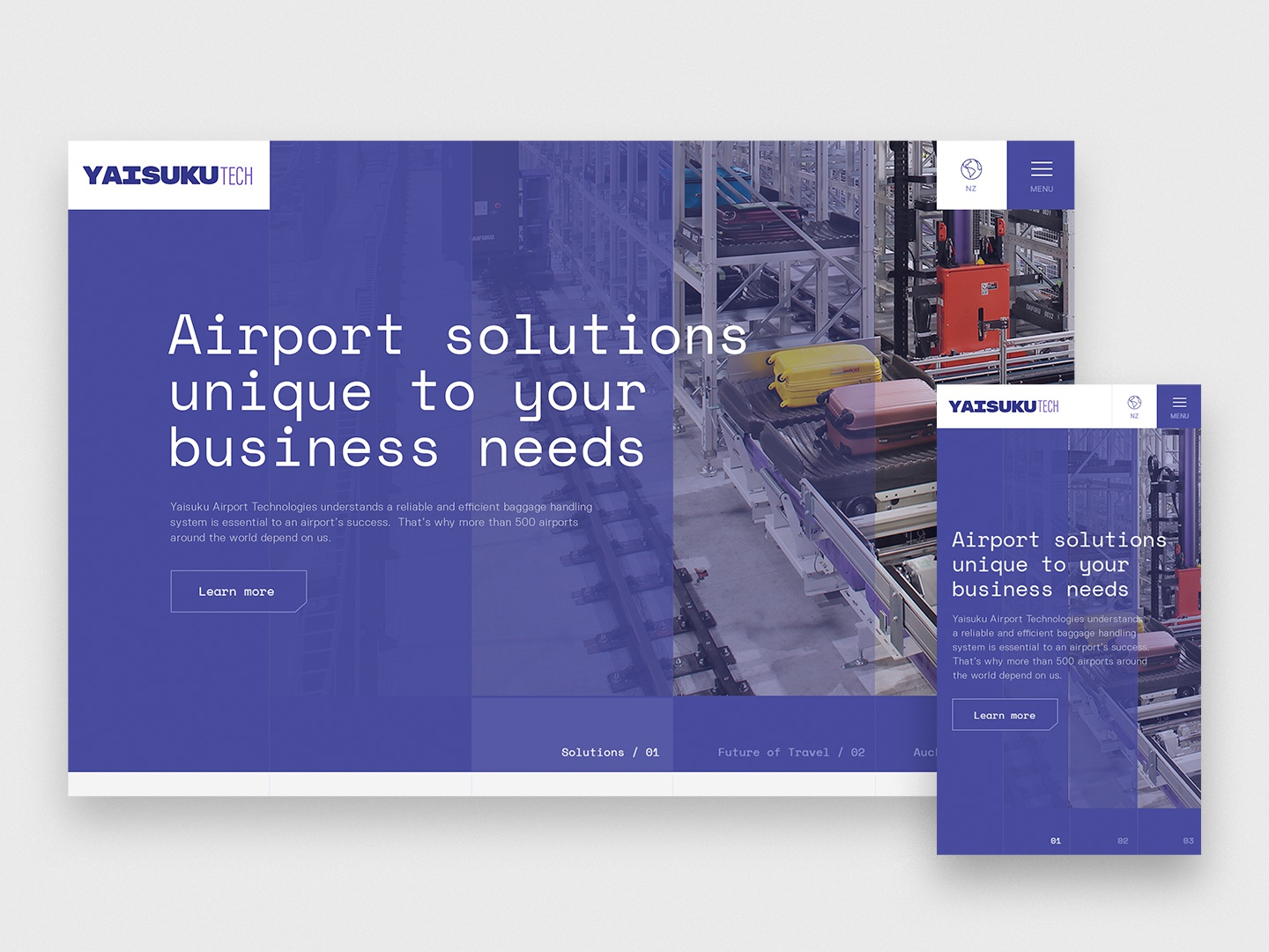 Website concept for airport logistics company by YoungShand  on Dribbble