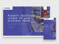 Website concept for airport logistics company