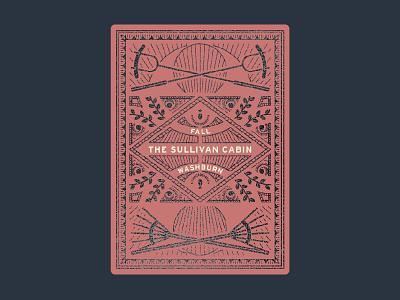 Sullivan Cabin Fall Playing Cards cook fire rake foil washburn minnesota cards playing fall cabin sullivan
