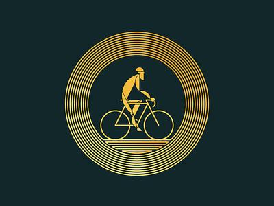 WIP: Caution, Rider! rider caution lineart cyclist bike illustration matt sullivan
