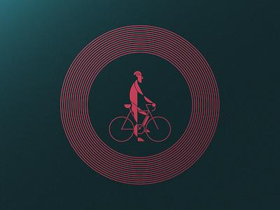 Stop, Rider! - Artcrank '18 Asset 1 of 3 minnesota foil sullivan matt illustration line cyclist bike rider stop