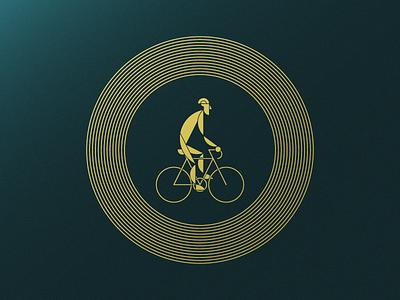 Caution, Rider! - Artcrank '18 Asset 2 of 3 light stop caution rider minnesota sullivan matt line illustration foil cyclist bike