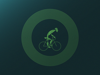 Go, Rider! - Artcrank '18 Asset 3 of 3 poster foil minnesota sullivan matt illustration line cyclist street light stop go bike
