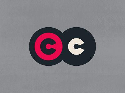 Two C's + Billiards   Logo Concept   004 gray grey black red bold minimal sullivan matt 004 concept logo letter circles ball pool billiards c 2 two
