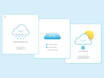 Daily UI #031 uxdesign uidesign cloud illustration fileupload dailyui