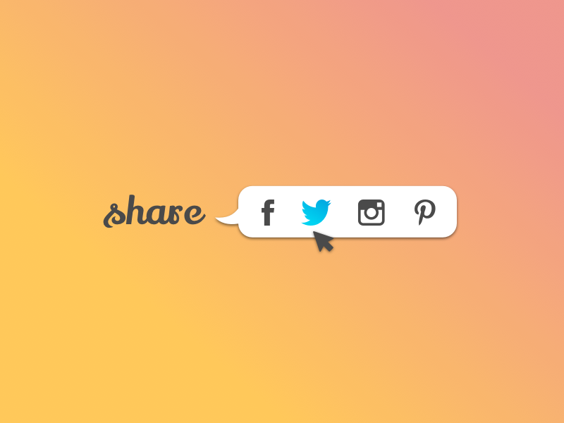 Daily UI #010 social buttons pinterest instagram twitter facebook share button social app uxdesign uidesign dailyui