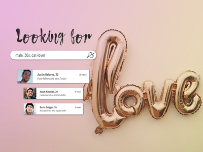 Daily UI #022 love search matchmaker filter search results search uidesign uxdesign dailyui