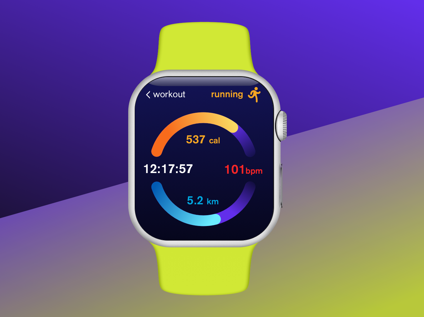 Daily UI #041 watch ui workout tracker workout app apple watch uidesign uxdesign dailyui