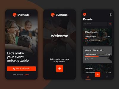 Eventus - Events Planner planner events app event trend app design application visual design ux app ui
