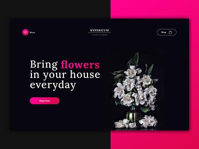 Luxury Flowers - Landing Page flowers web landingpage design visual design app ui