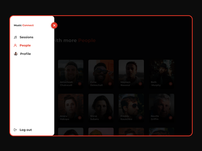Music Connect - Social Media Web creative very trend ux design music social app ui design uiux ui