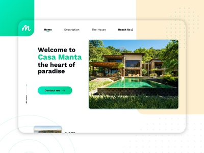 Real State Landing Page typogaphy minimal creative trend house realstate uiux ux ui webdesign