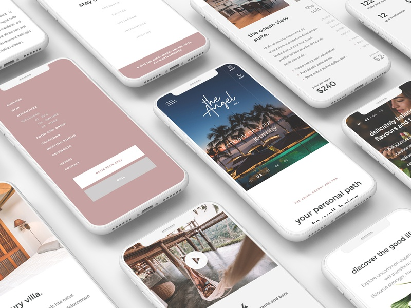 The Angel | Resort and Spa Landing page by beto reyes on
