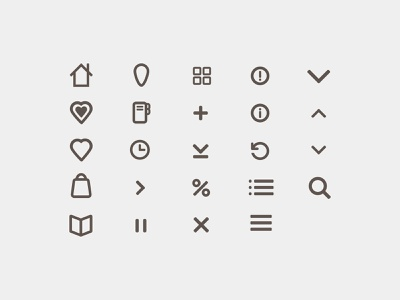 Bookloft Icon Set line clean iconography interface shopping mobile web ui icon set icon icons grey gray books book
