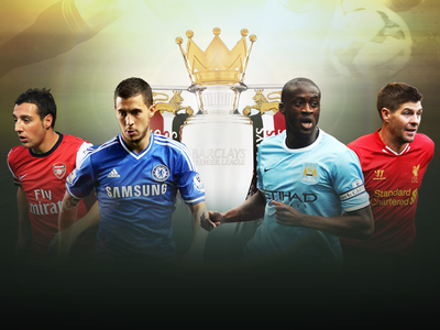The Tightest Title Race in Years photoshop premier league football soccer trophy manchester city chelsea arsenal liverpool composite