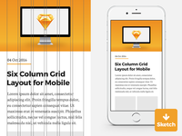 Sketch Template - 6 Column Grid for iPhone