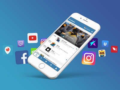 Stream Time - Scheduling for Live Video Streaming ui periscope facebook mobile app ios