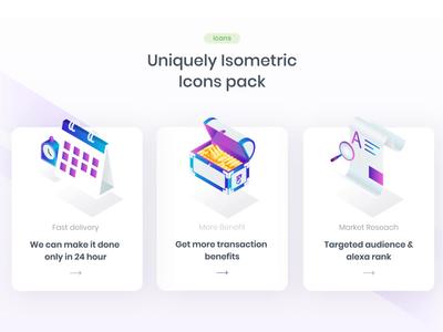 Unique Isometric Icons Pack