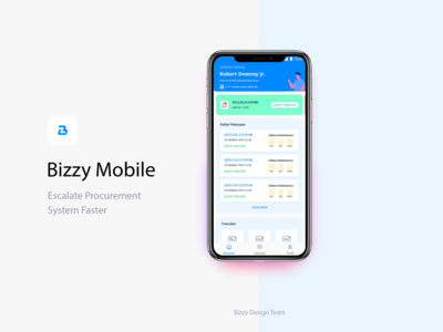 Bizzy Mobile Homepage