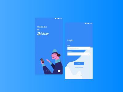 Bizzy Login App