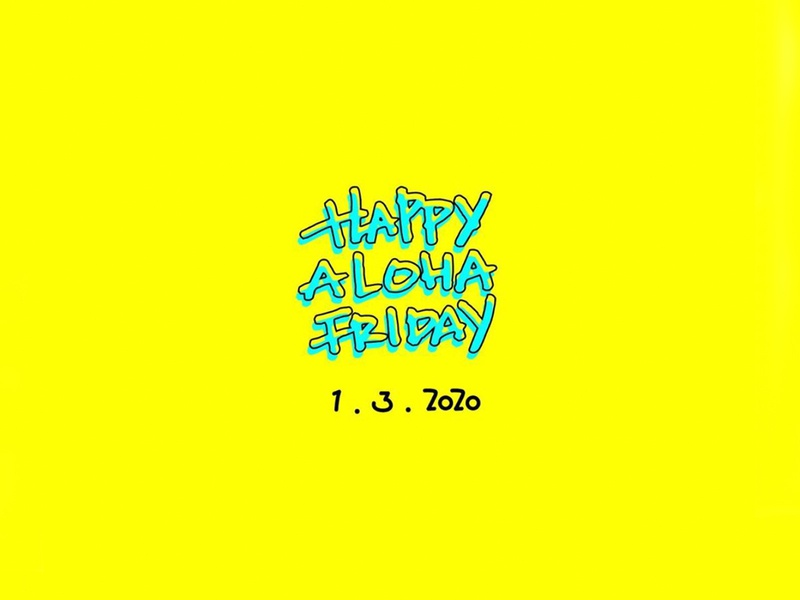 Aloha Friday 08 illustrations alohafriday handwrittenfont typography font logo design