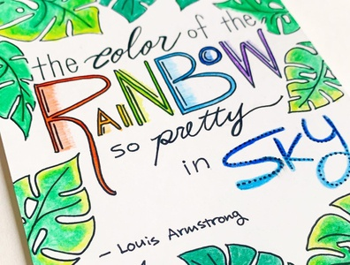 Greeting Card 01 - The Color of The Rainbow so Pretty in Sky illustrations logo font handwrittenfont typography design