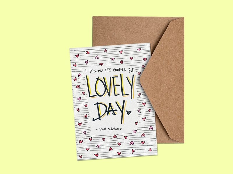 Greeting Card 02 - Lovely Day handwritten font illustrations handwrittenfont font typography logo design